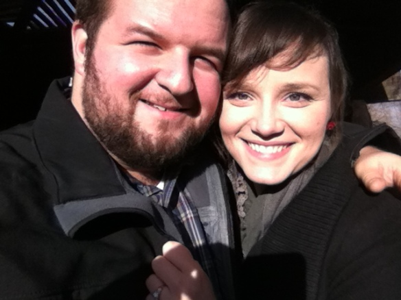Me and my fiancé, Ashley, right after we got engaged.