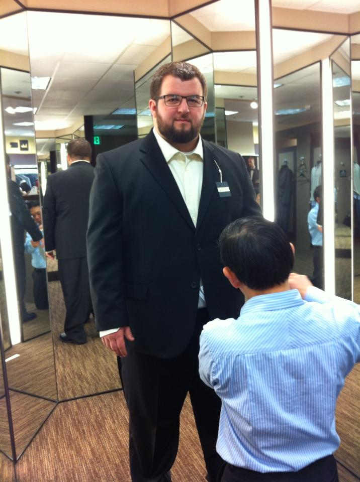 Last Sunday I got fitted for the suit I'm going to buy and wear at my wedding.